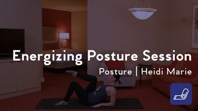 Instant Access to Energizing Posture Session by Club Pilates, powered by Intelivideo