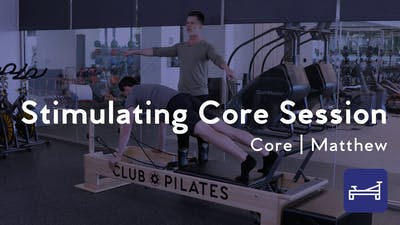 Instant Access to Stimulating Core Session by Club Pilates, powered by Intelivideo