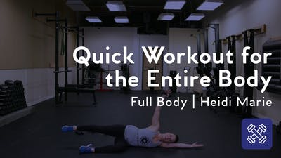 Instant Access to Quick Workout For The Entire Body by Club Pilates, powered by Intelivideo