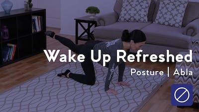 Instant Access to Wake Up Refreshed Posture Session by Club Pilates, powered by Intelivideo