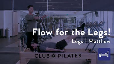 Instant Access to Flow For The Legs! by Club Pilates, powered by Intelivideo