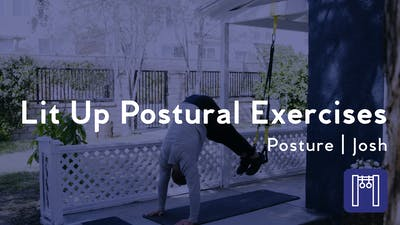 Instant Access to Lit Up Postural Exercises by Club Pilates, powered by Intelivideo