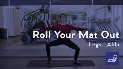 Instant Access to Roll Your Mat Out Leg Workout by Club Pilates, powered by Intelivideo