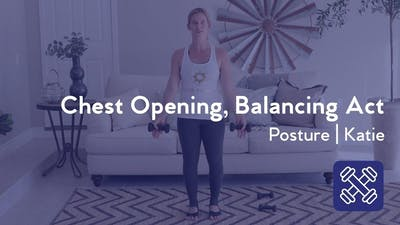 Instant Access to Chest Opening, Balancing Act by Club Pilates, powered by Intelivideo