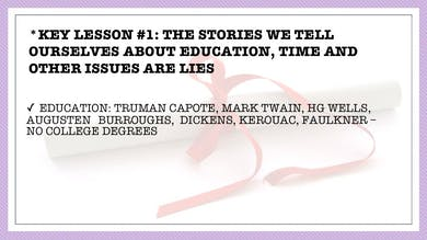 Module 2, Key Lesson 1 The Stories We Tell Ourselves Are Lies - Part 1 by Anna David, LLC