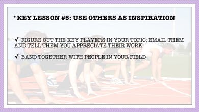 Module 2, Key Lesson 5 Use Others as Inspiration by Anna David, LLC