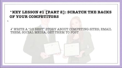 Module 5, Key Lesson 2 Scratch The Backs of Your Competitors and They'll Scratch Yours by Anna David, LLC