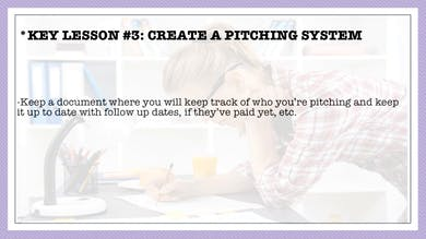 Module 6, Key Lesson 3 Create a Pitching System by Anna David, LLC