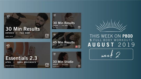 August 2019 | Week 2 by Pure Barre On Demand