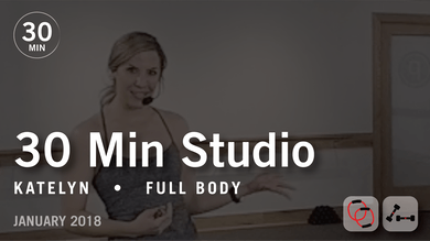 30 Min Studio with Katelyn: Full Body  |  January 2018 by Pure Barre On Demand