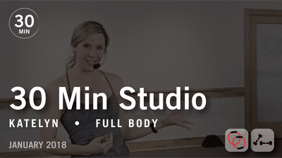 Instant Access to 30 Min Studio with Katelyn: Full Body  |  January 2018 by Pure Barre On Demand, powered by Intelivideo