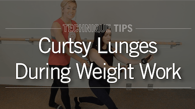 Technique Tips: Curtsy Lunge During Weight Work by Pure Barre On Demand