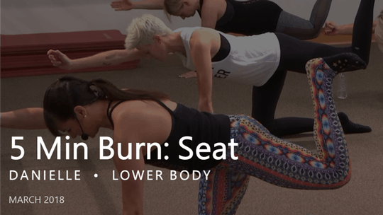 Instant Access to 5 Min Burn: Seat  |  March by Pure Barre On Demand, powered by Intelivideo