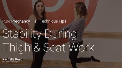 Pregnancy Technique Tips: Stability During Thigh & Seat Work by Pure Barre On Demand