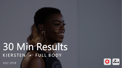30 Min Results with Kiersten  |  July by Pure Barre On Demand
