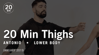 20 Min Intensive with Antonio: Thighs  |  January 2019 by Pure Barre On Demand