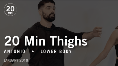 Instant Access to 20 Min Intensive with Antonio: Thighs  |  January 2019 by Pure Barre On Demand, powered by Intelivideo