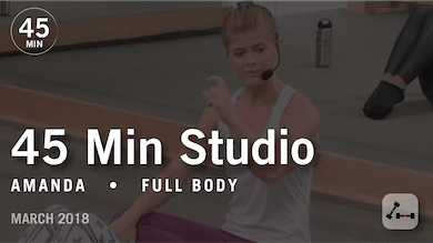45 Min Studio with Amanda: Full Body  |  March 2018 by Pure Barre On Demand