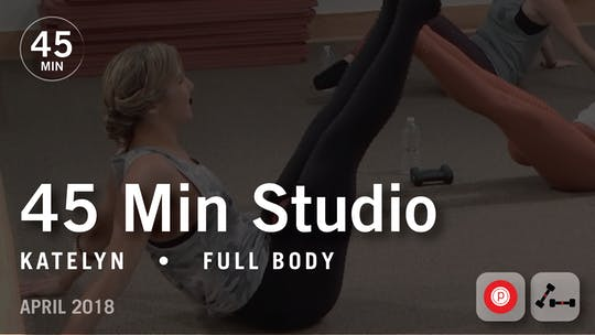 Instant Access to 45 Min Studio with Katelyn: Full Body  |  April 2018 by Pure Barre On Demand, powered by Intelivideo