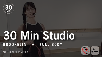 30 Min Studio with Brookelin: Full Body  |  September 2017 by Pure Barre On Demand
