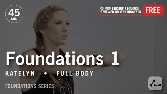 Instant Access to Foundations 1 with Katelyn by Pure Barre On Demand, powered by Intelivideo