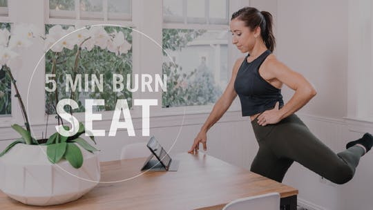Instant Access to 5 Min Burn: Seat by Pure Barre On Demand, powered by Intelivideo
