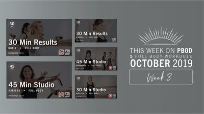 October 2019 | Week 3 by Pure Barre On Demand