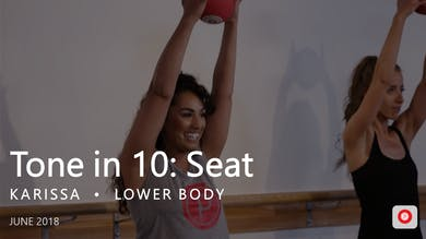 Tone in 10: Seat  |  June by Pure Barre On Demand