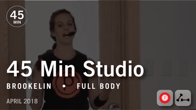 45 Min Studio with Brookelin: Full Body  |  April 2018 by Pure Barre On Demand