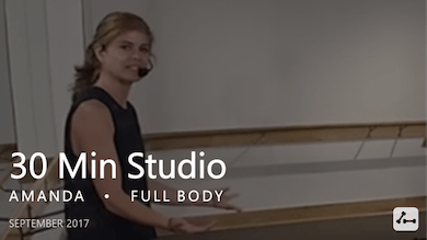 30 Min Studio with Amanda  |  September by Pure Barre On Demand