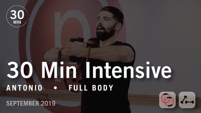 30 Min Intensive with Antonio | September 2019 by Pure Barre On Demand