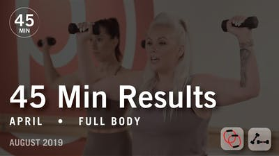 45 Min Results with April: Full Body | August 2019 by Pure Barre On Demand