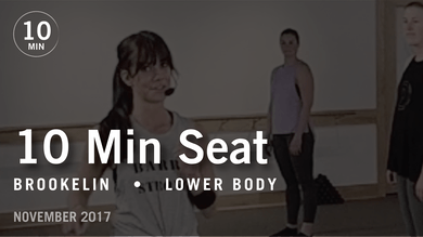 Tone in 10 with Brookelin: Seat  |  November 2017 by Pure Barre On Demand