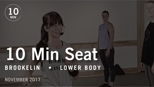 Instant Access to Tone in 10 with Brookelin: Seat  |  November 2017 by Pure Barre On Demand, powered by Intelivideo
