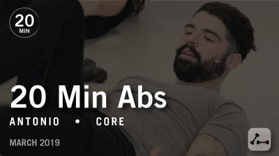 Instant Access to 20 Min Intensive with Antonio: Abs  |  March 2019 by Pure Barre On Demand, powered by Intelivideo