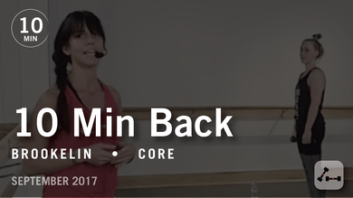 Tone in 10 with Brookelin: Back  |  September 2017 by Pure Barre On Demand