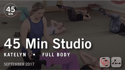 45 Min Studio with Katelyn: Full Body  |  September 2017 by Pure Barre On Demand
