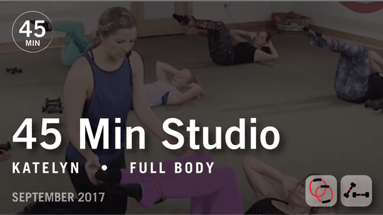 Instant Access to 45 Min Studio with Katelyn: Full Body  |  September 2017 by Pure Barre On Demand, powered by Intelivideo