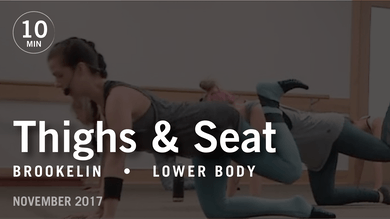 Tone in 10 with Brookelin: Thighs & Seat  |  November 2017 by Pure Barre On Demand