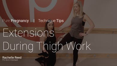 Pregnancy Technique Tips: Extensions During Thigh Work by Pure Barre On Demand