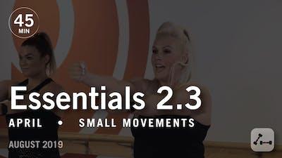 Essentials 2.3 with April: Small Movements  |  August 2019 by Pure Barre On Demand