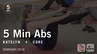 Instant Access to 5 Min Burn with Katelyn: Abs  |  February 2018 by Pure Barre On Demand, powered by Intelivideo