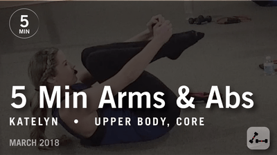 5 Min Burn with Katelyn: Arms  & Abs |  March 2018 by Pure Barre On Demand