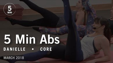 5 Min Burn with Danielle: Abs  |  March 2018 by Pure Barre On Demand