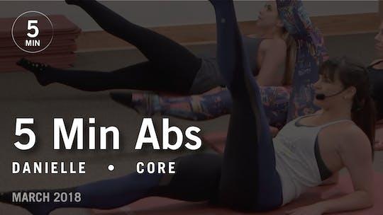 Instant Access to 5 Min Burn with Danielle: Abs  |  March 2018 by Pure Barre On Demand, powered by Intelivideo
