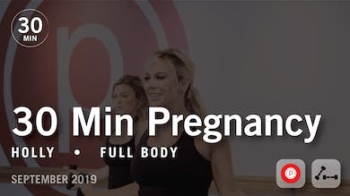 30 Min Pregnancy with Holly | September 2019 by Pure Barre On Demand