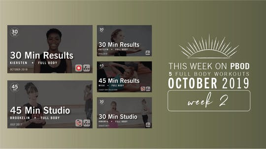October 2019 | Week 2 by Pure Barre On Demand