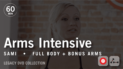 Instant Access to 60 Min Intensive with Sami: Arms  |  Legacy DVD Collection by Pure Barre On Demand, powered by Intelivideo