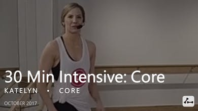 30 Min Intensive with Katelyn  |  Core by Pure Barre On Demand