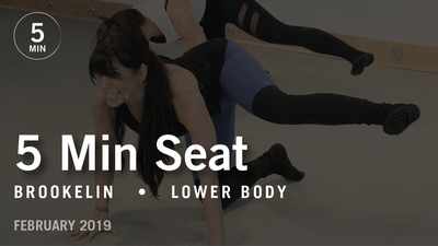 5 Min Seat with Brookelin: Lower Body  |  February 2019 by Pure Barre On Demand